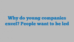 Why do young companies excel? People want to be led