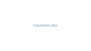 2019 Buffett Letter