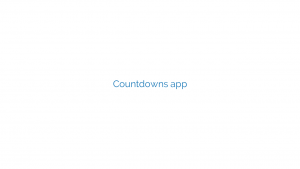Countdowns app